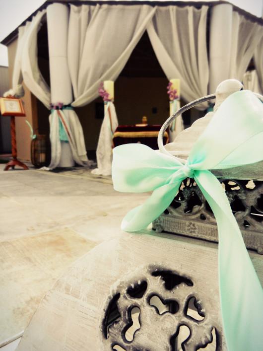 Ρομαντική διακόσμηση για γάμο στο εκκλησάκι του Anais club