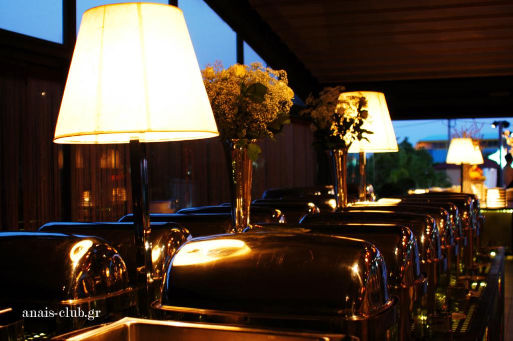 Φωτισμός και διακόσμηση του buffet