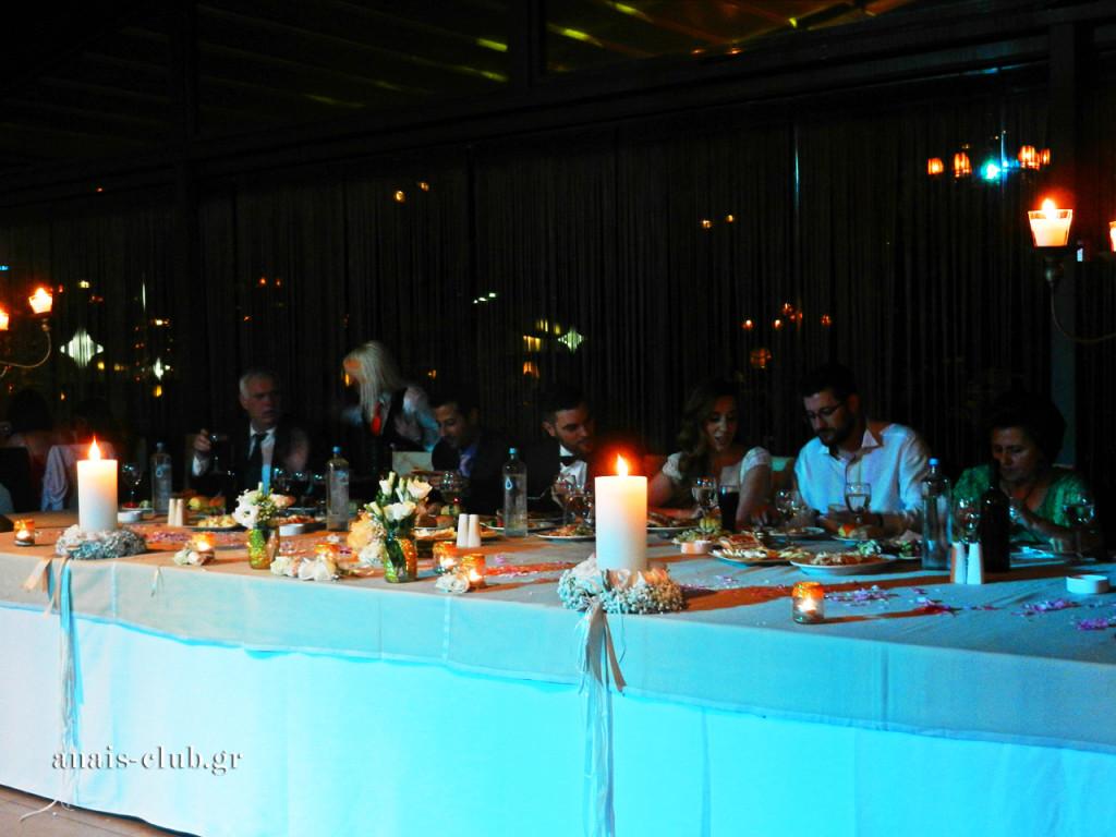 Το νυφικό τραπέζι στο Anais Club