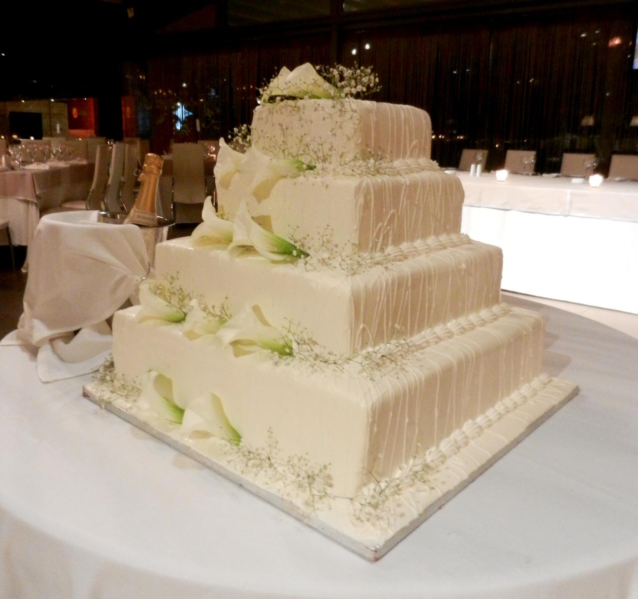 Τα διαφορετικά χρώματα μιας γαμήλιας τούρτας