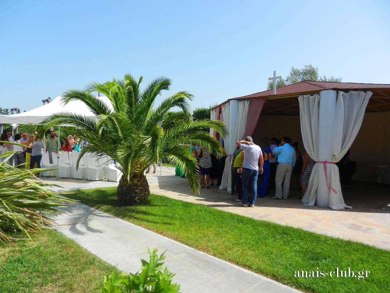 Η βάπτιση της Λυδίας στο εκκλησάκι και η δεξίωση στο Anais Club