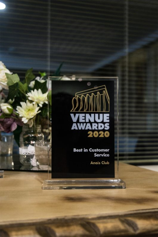 venue awards anais club gold award best in customer service